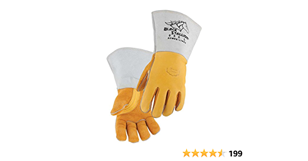 Craftright 40cm Black And Gold Welding Gloves