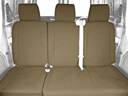 CalTrend Rear Row 60/40 Split Bench Custom Fit Seat Cover for Select Toyota Tundra Models - DuraPlus (Beige)