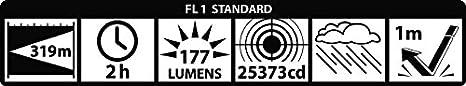 gris de aluminio Linterna LED Mag-Lite 2/C-Cell 4.3 x 16.9 x 4.3 cm aluminio