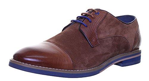 32de6e33ec8a Justin Reece Zach Mens Suede Leather Shoes (6 UK