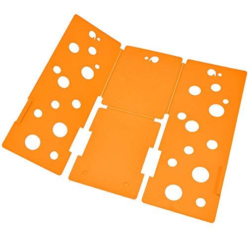 BoxLegend Clothes/T Shirt Folder Plastic Shirt Folding Board Adjustable Magic Fast Laundry Folder(Orange)