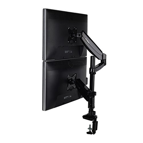 FLEXIMOUNTS Vertical Dual Monitor Mount LCD arm,Full Motion Stacking Desk mounts for 10
