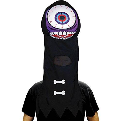 Inflatable Eyeball Costume (Purple Giant Eyeball Headpiece Men's Adult Halloween Costume)