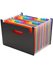 Expanding Files Folder,24 Pockets Portable Accordion A4 Expandable File Organizer,High Capacity Multicolour Folder for Business/Office/Study