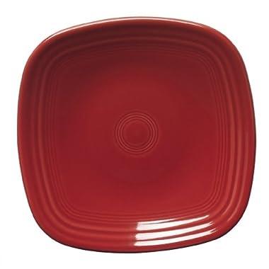 Fiesta 7-3/8-Inch Square Salad Plate, Scarlet