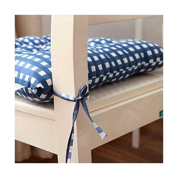 WDOIT - Cuscino per Sedia, particolarmente Imbottito, per mobili in Rattan, da Giardino, Stile 3, 40 * 40cm 2 spesavip