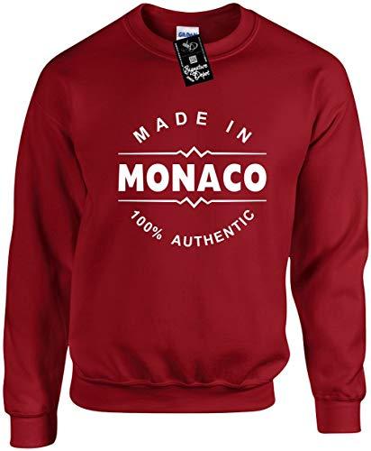 Unisex Funny Crewneck Sz S (Made in Monaco (Europe) Sweatshirt ()