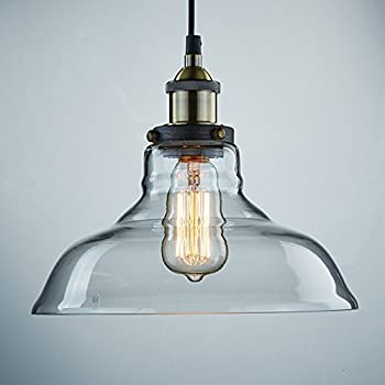 CLAXY Ecopower Industrial Edison Vintage Style 1 Light Pendant