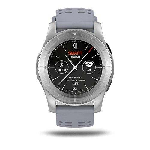 Bluetooth Smart Watch,Beautyjourney Montre Connectee Autonome GS8 ImperméAble à Leau GPS Smart Watch FréQuence Cardiaque Tension Montre Bracelet (Gris): ...