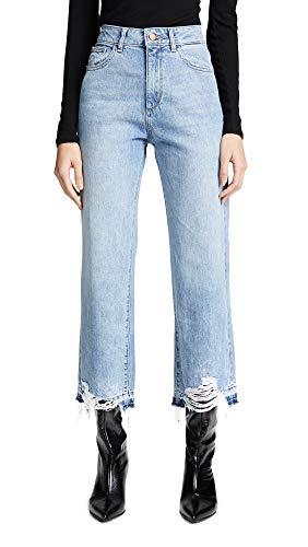 DL1961 Women's Hepburn High Rise Wide Leg Jean, Slate, Blue, 25 (Wide Hepburn Pant Leg)