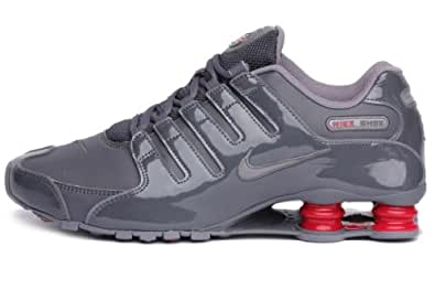 Nike Mens Shox Nz Charcoal Red 378341-043 13