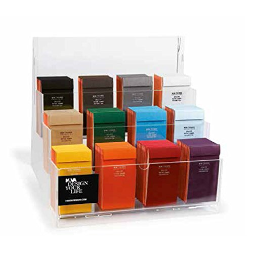 NAVA Design Minerva Switch Counter Display (120 Pieces) Mini Pocket Notepad, Clear (Yafa Mini)