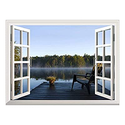 Removable Wall Sticker Wall Mural Peaceful Lake View...