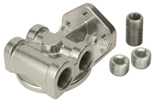 Oil Filter Mounting Bracket - Derale 25709 Remote Filter Mount Kit