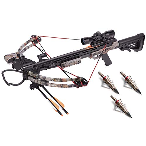 CenterPoint Sniper 370 Hunter's Camo Crossbow Package with Three 20