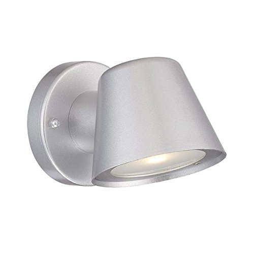 Acclaim 1404BS LED Wall Sconces Collection 1-Light Wall Mount Outdoor Light Fixture, Brushed Silver by Acclaim