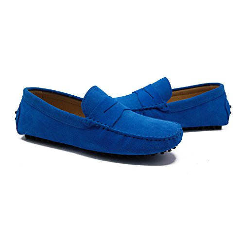 Suede Sapphire Loafers Ons Men's Blue Turn US8 Flats Slip Z4w6Pzzx