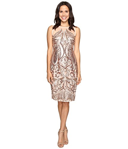 Adrianna Papell Womens Illusion Cocktail