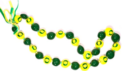 NCAA Oregon Ducks Go Nuts Kukui Nut Lei Necklace (Nuts Kukui Painted)