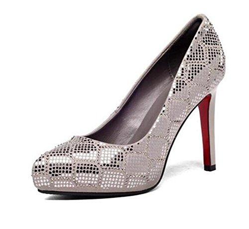 e40a505769959e Frauen Schuhe aus echtem Wildleder Stöckelabsatz Pailletten Pumps Kleid  Party Größe 35 bis 38 Gray