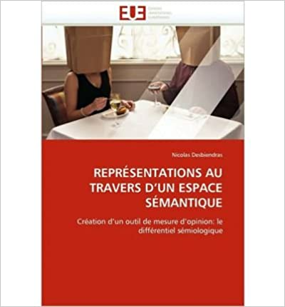 Book Reprsentations Au Travers D'Un Espace Smantique (Paperback)(French) - Common