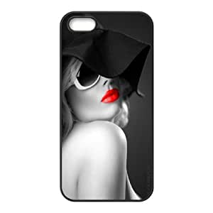 Wholesale Cheap Phone Case For Apple Iphone 5 5S Cases -Sexy Red Lips Pattern-LingYan Store Case 7