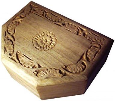 greca Caja de Madera Tallada en la Tapa. En Crudo para Decorar. Medidas (Ancho/Fondo/Alto): 20 * 15 * 7,5 cm.: Amazon.es: Hogar