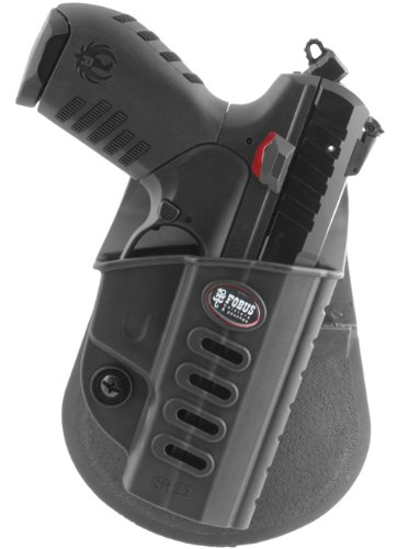 Fobus Tactical SR-22 RT Right Hand Conceal Carry Polymer Roto Paddle Holster for Ruger SR22 - Black (Paddle Holster Ruger)