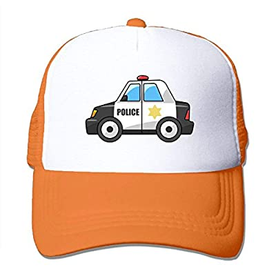 DIYoDGG Police Car Unisex Trucker Hat Mesh Cap with Adjustable Snapback Strap Black