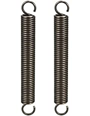 uxcell Extended Compressed Spring Spring Steel Small Dual Hook Tension Spring 2pcs