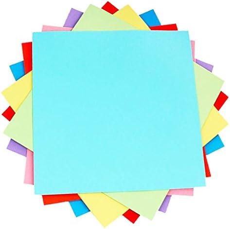 工芸品 折り紙 幼稚園 10色 手芸用紙片 ペーパー芸術 手作りギフト 正方形 約100枚入り 3サイズ選べ - 20x20cm