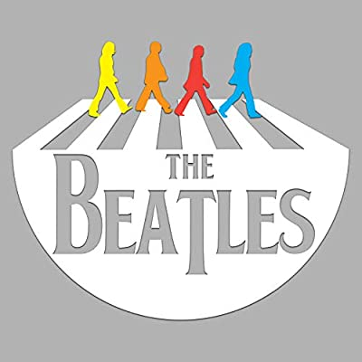 "GI The Beatles Decal Sticker Vinyl | Beatles Band | The Best Band Songs | Cars Walls Laptops | Premium Quality | White | 6.5"" x 6"": Automotive"