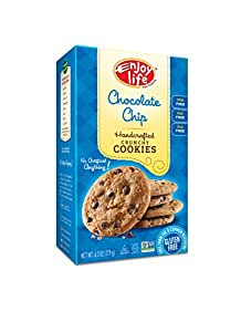 Enjoy Life Handcrafted Crunchy Cookie, Chocolate Chip, 6.3 Ounce (Pack of 6)