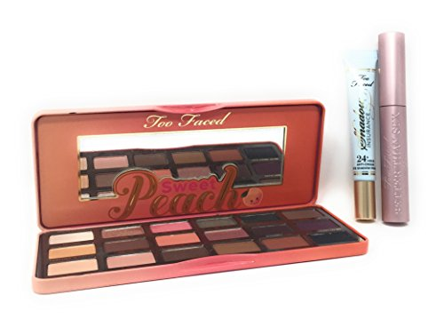 Too Faced Life's A Peach Ultimate Eye Collection Set Palette Better Than Sex Mascara Plus Primer