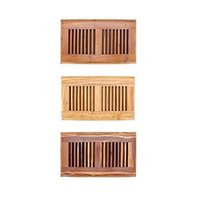 """BambooMN Brand - 6"""" Inch x 11.8"""" Inch Strand Woven Bamboo Floor Register Air Vent Indent Cover"""