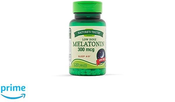 Amazon.com: Natures Truth Low Dose Melatonin 300mcg Sleep Aid 120 Tablets: Health & Personal Care