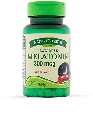 300 Mcg Melatonin - Nature's Truth Low Dose Melatonin 300mcg Sleep Aid 120 Tablets