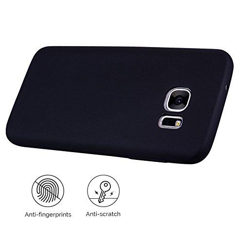 Funda Galaxy S6 Edge , SpiritSun Soft TPU Silicona Handy Candy Carcasa Funda para Samsung Galaxy S6 Edge (5.1 Pulgadas) Suave Silicona Piel Carcasa Ultra Delgado y Ligero Goma Flexible Phone Case Cove Negro