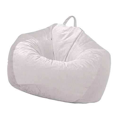 Fenteer Bean Bag Cover Gaming Chair Sofa, Room Organizer Clothes Doll Toys Organiser - Apricot, -