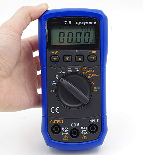 TestHelper TH-71B Handheld Signal Generator Source Simulator Meter,DC Voltage Current Thermocouple K/E/J/T/B/R/S/N,24V Loop,V/mA Step Output