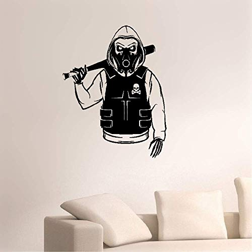 Weatyu Decals Wall Stickers Sayings Lettering Room Home Wall Decor Mural Art Skull Skeleton Rebel Marauder Bandit Camouflage