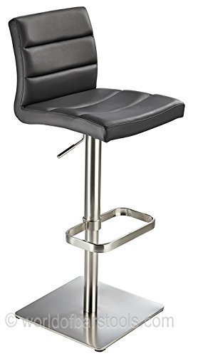 costantino deluxe real leather bar stool black amazon co uk