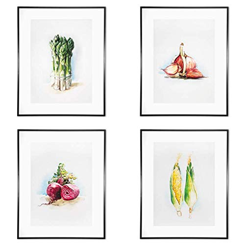 Amazon.com: Set of 4 wall decor | Vegetable print art ...
