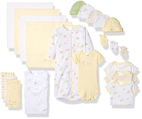 Unisex Layette (SpaSilk Essential Newborn Baby Layette Set - 0-6 Months - Yellow, Set of)