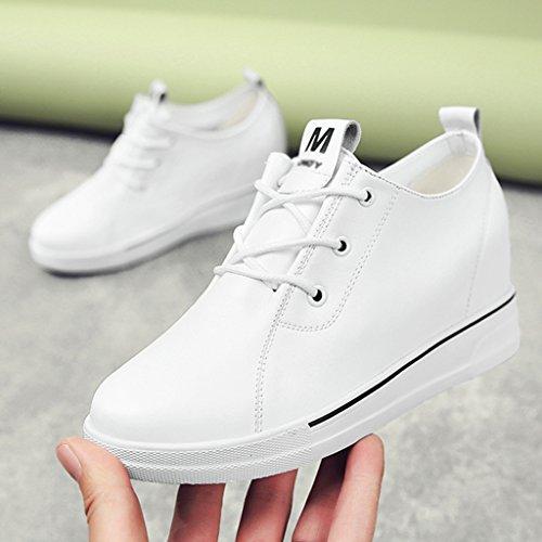 plate HWF la augmenté Chaussures Blanc simples Couleur blanc Blanc chaussures décontractées Le dans 39 féminines forme printemps épais fond Chaussures Chaussures a femme taille AvwqW8A0r