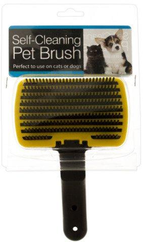 Bulk Buys Self-Cleaning Bathing Grooming Pet Brush Pack Of 4