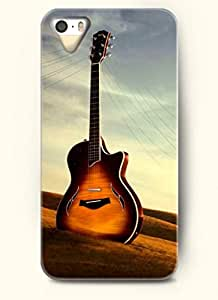 OOFIT Phone Case Design with Guitar and Lines for Apple iPhone 4 4s 4g