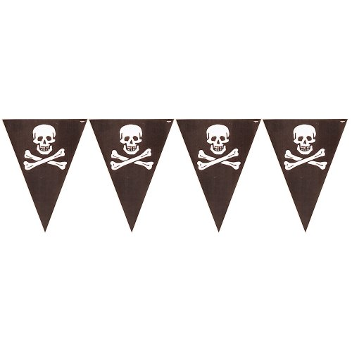 Creative Converting Buried Treasure Party Flag Banner -