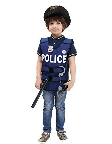 ROMASA Cosplay Children Masquerade Costume Police Vest(Free (Easy Costumes For Comic Con)