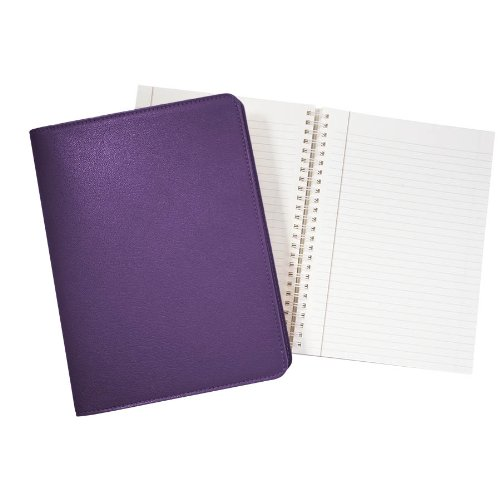 Wire O Notebook Genuine Leather Refillable Purple product image